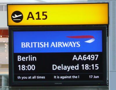 Late Departure at London Heathrow Terminal 5