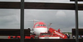 Avianca plane at Cartagena airport, Colombia