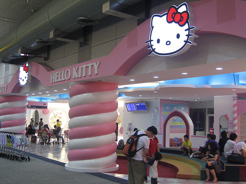 Hello Kitty Lounge at Taipei International Airport