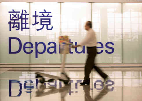 Hong Kong International Airport - Departures in Terminal 1