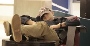 Sleeping at the airport - always a good idea?