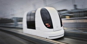 Driverless pod system at London Heathrow LHR