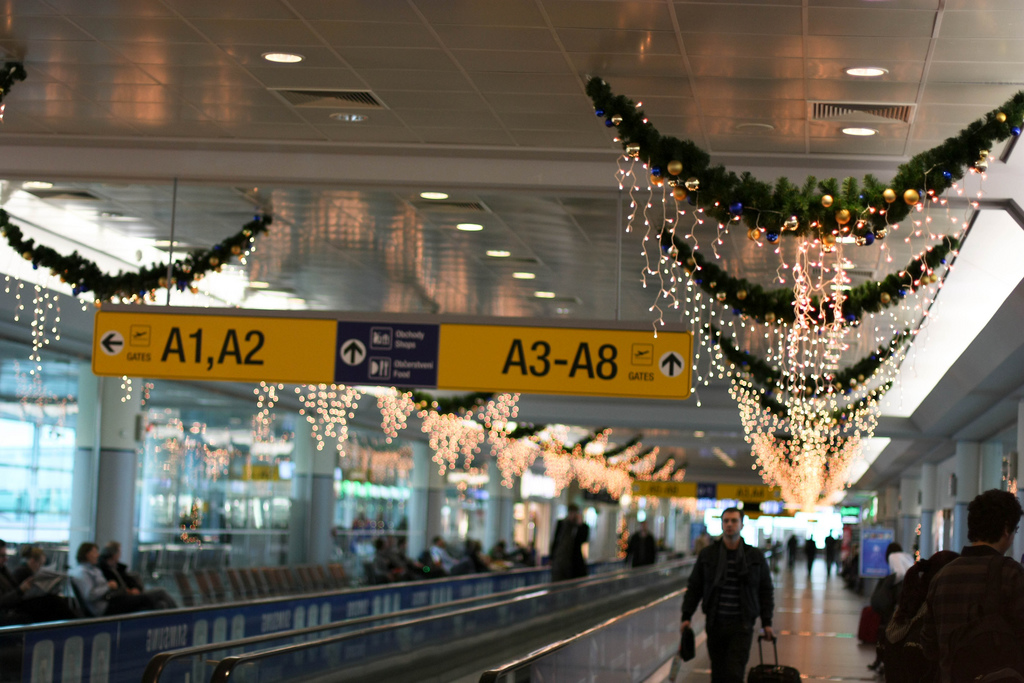 Prague Airport at Christmas