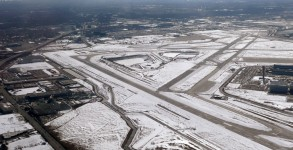 Chicago's O'Hare Airport in the snow
