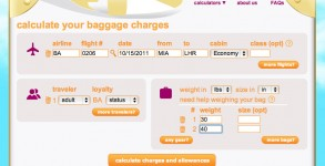 iflybags website helps you calculate your baggage fees