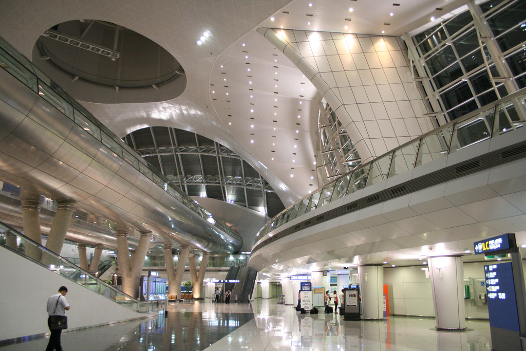 Incheon International Airpot's interior - Winner of the 2012 Skytrax World Airport Awards