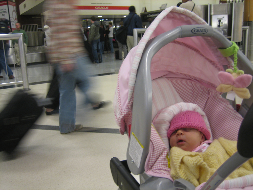 Travelling with babies through airports can be a stressful experience