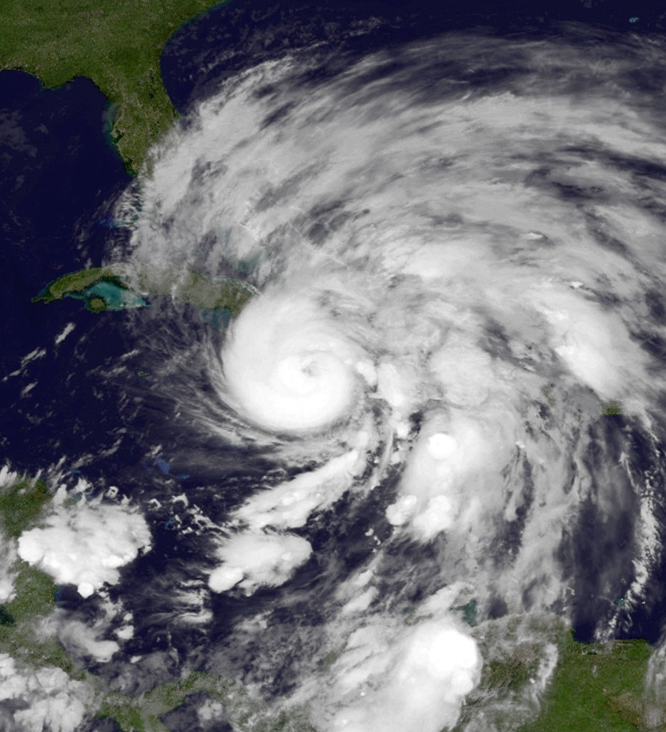 Hurricane Sandy photographed on 25 October 2012