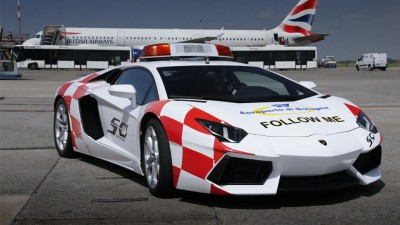 Lamborghini Aventador at Bologna Airport