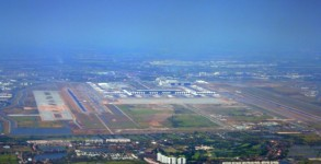 Aerial view of Bangkok Airport