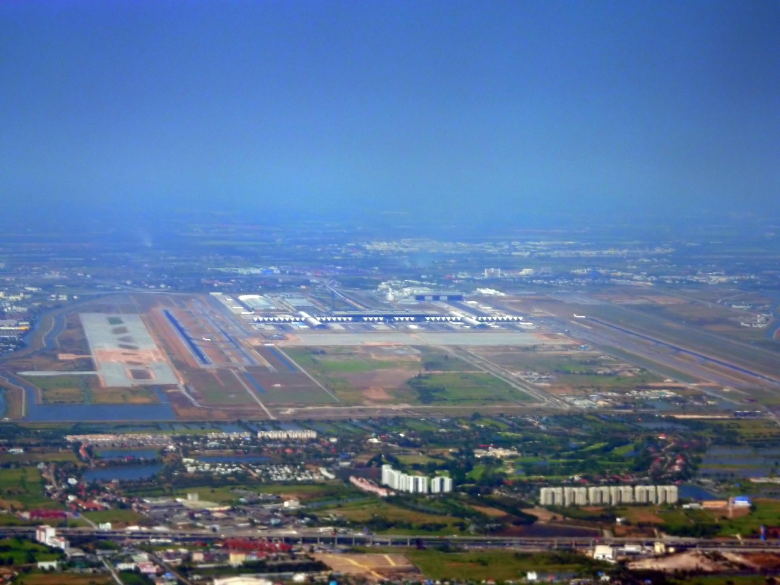 Aerial view of Bangkok Airport
