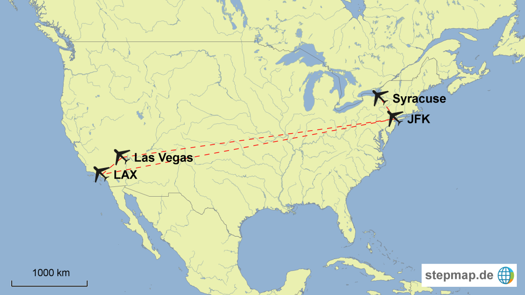 Map of our flight route