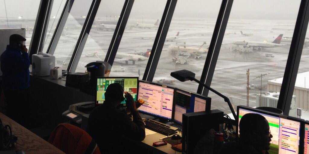 Atlanta Airport in snow