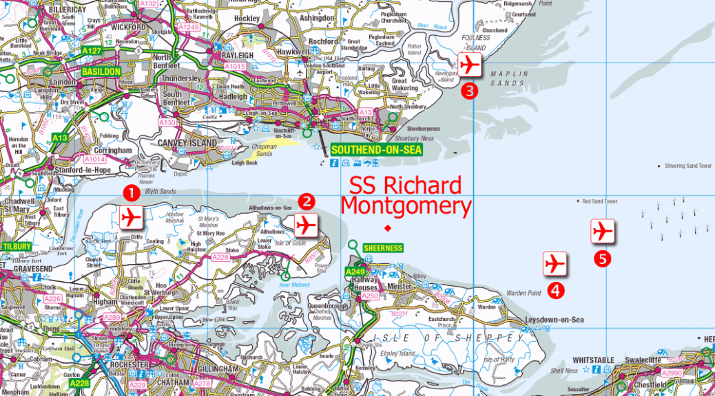 Thames Estuary airports proposed locations SS Richard Montgomery