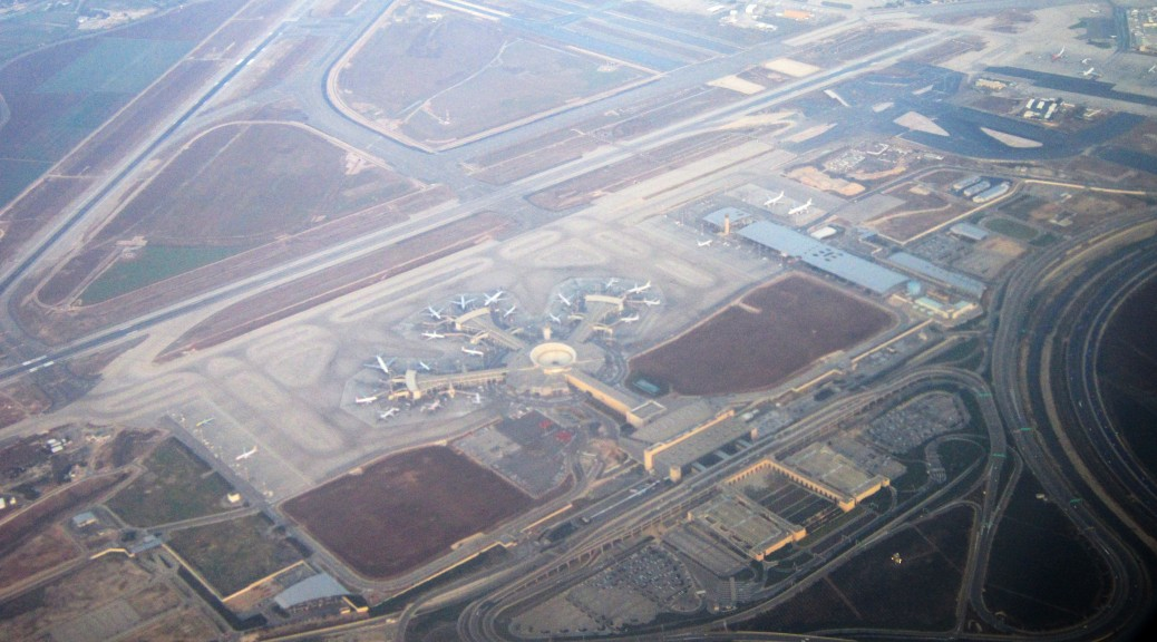 Ben Gurion International Airport aerial view
