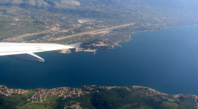 Split airport and Ciovo from air