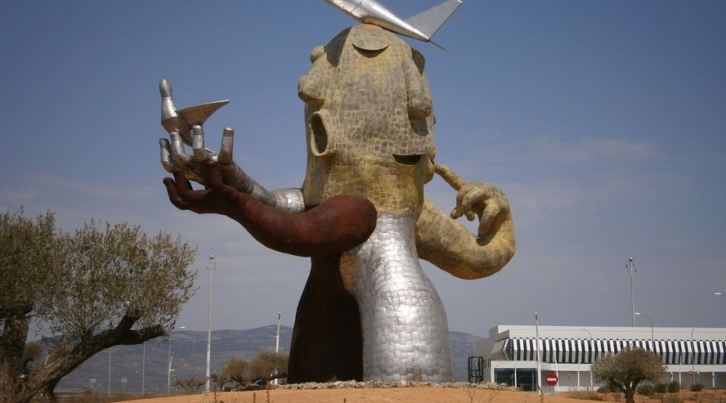 Statue at Castellon Airport