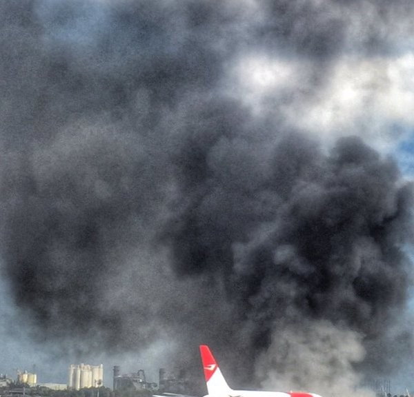 Plane on fire at Fort Lauderdale